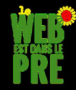 Le web est dans le pré petit format logo 2 text centre